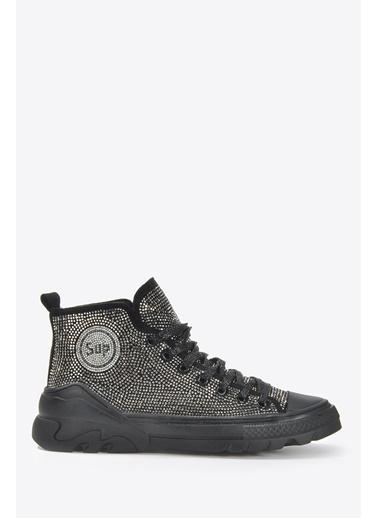 Vizon Ayakkabı Sneakers Siyah